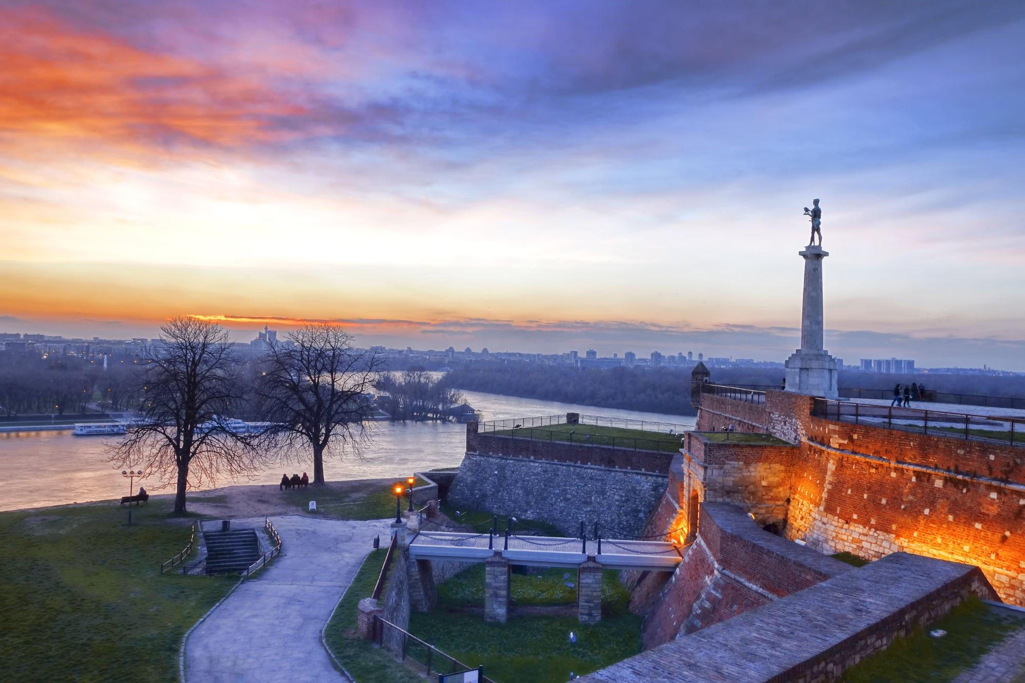 Belgrade sunset image